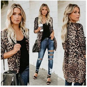 Leopard button down cardigan